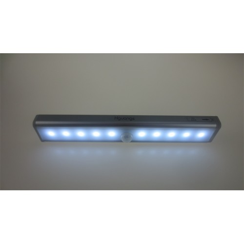 Hguangs 10 LED Wireless Motion Sensing Light Bar With Magnetic Strip (Battery  Operated), Cabinet LED Night Light/Step ...